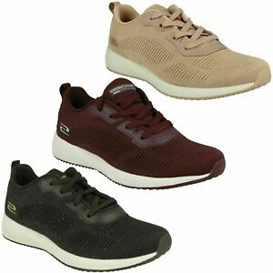 LADIES SKECHERS 32502 TOTAL GLAM LACE UP CASUAL SPORTS TRAINERS SHOES SIZE