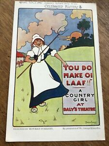 A COUNTRY GIRL Howard Forrest TUCK Celebrated Posters Series 1900s POSTCARD 22/6