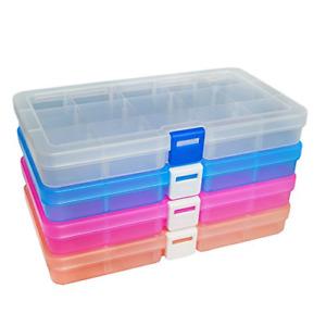 Plastic Organizer Container Storage Box Adjustable Divider Removable
