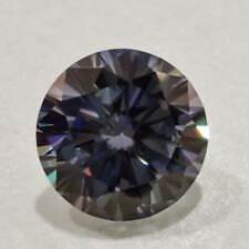 Vvs1 Dark Gray Round Cut 4 Ring Genuine Loose Moissanite 1.27 Ct 7.16 Mm Clarity