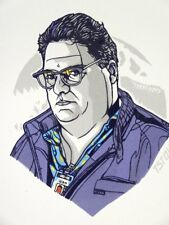 Tyler Stout Dennis Nedry Handbill Print Poster Mondo Artist Jurassic Park
