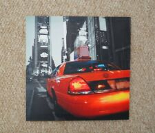Iconic New York American Taxi Canvas Print Wall Art 30x30cm (America, USA)