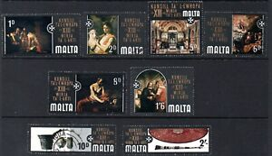 Malta Stamps 1970 SG 430-437 Council of Europe  Very Fine Used