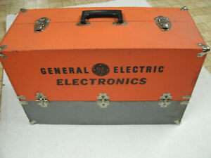 Vintage GE Repairman's Caddy Case Bundled with Tubes, Brightners, and Fuses