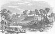 RANGOON. Storming and Capture of White House Picket Stockade. Burma, print, 1853