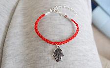 Estilo Vintage Pulsera Roja Hamsa Mal de Ojo Amuleto Kabbalah Mano de Fatima