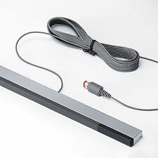 Wired Infrared Ray Sensor Bar/receiver for Nintendo Wii U Black With Silver RR