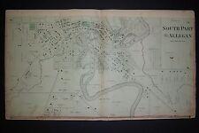 1873 original Plat Atlas page SOUTH PART OF ALLEGAN, MI, buildings marked