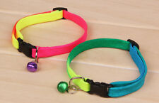 Pet Cat Kitten Puppy Safety Collar Neck Adjustable Buckle Bell Colours Strap