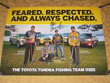 MIKE IACONELLI AUTOGRAPHED 18X24 TOYOTA BASS FISHING TEAM POSTER KEVIN VANDAM