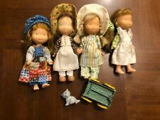 """Knickerbocker 6"""" Holly Hobbie set of 4 dolls- Amy, Carrie, and 2 Holly + extras"""