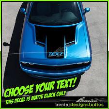 2015 and up Dodge Challenger RT SRT8 Scat Pack Hood Stripes Matte Black Decals 1