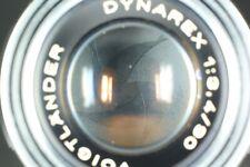 {EXC+5} VOIGTLANDER DYNAREX 90mm f3.4 Manual Focus Lens DKL Mount JAPAN #836I