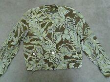 Liz Claiborne Collection Summer Beach Palm Frond Silk Jacket Tank Skirt-Size 4