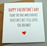 FUNNY VALENTINES CARD/ NAUGHTY / CHEEKY/ OFFENSIVE / RUDE /HUMOUR BANTER  - FE