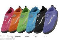 Womens Slip On Water Aqua Shoes Socks Assorted Plus Neion Colors 5 6 7 8 9 10 11