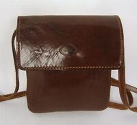 VINTAGE THE TREND BROWN ITALIAN LEATHER SATCHEL HANDBAG SHOULDER BAG