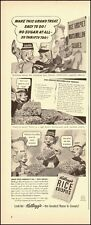 1942 Vintage ad for Kellogg's Rice Krispies`WWII era`Art, Recipe (051214)