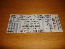 Michael Jackson 30th Anniversary Concert 7th September 2001 Unused Tour Ticket