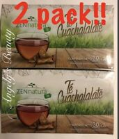 2 PACk! TE CUACHALALATE 30 BOLSAS ELIXIR / 2 TEA cuachala BARK 30 BAGS Gastritis