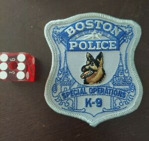 BOSTON POLICE K-9 SPECIAL OPERATIONS PATCH NOT WORN
