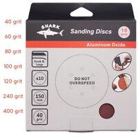 Sanding Discs Sandpaper 150mm SHARK 6'' Orbital Sander 6 hole PREMIUM Quality