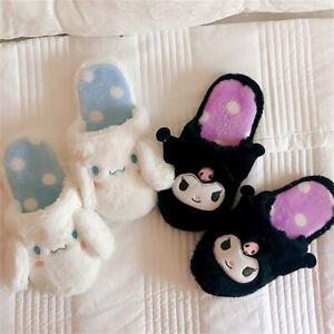 Kuromi Cinnamoroll Slippers Cotton Shoes Home Plush Cute Keep Warm TPR Present