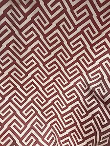 """Zoffany AZTEC Curtain Craft Cushion Upholstery Fabric 3m Pieces Burgundy 54""""wide"""