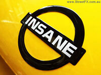 INSANE NISSAN BADGE (BLK) Embossed Metallic Nismo R34 R32 GTR 180SX RPS13