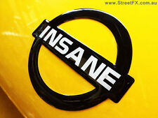INSANE NISSAN BADGE (BLK) Embossed Metallic Nismo R34 R32 GTR 180SX RPS13