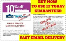 TWO(2X) Lowes 10% OFF Printable-Coupons - Exp 5/31/17 - Fast _INSTANT_Delivery