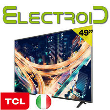 "SMART TV LED 49"" POLLICI FULL HD DVB-T2 S2 WIFI TCL F49S5906 SAT TELEVISORE 50"