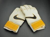 Nike Goalkeeper Gloves Soccer Yellow White Black Sports Goalie Gloves Size 8