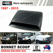 NISSAN NAVARA D22 BONNET SCOOP BLACK SUITS 1997-2015 With Seal Brand New