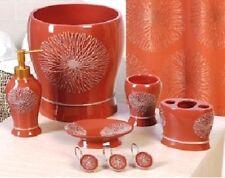 6 Piece Decorative Bathroom Accessory set Made of Ceramic (Galaxy Rust)