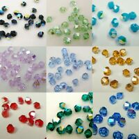 144 pcs x SWAROVSKI XILION CRYSTAL 5328 3mm Bicone Bead ~ Colour AB ~ Many Color