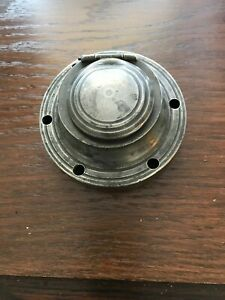 VICTORIAN CAPSTAN PEWTER INKWELL