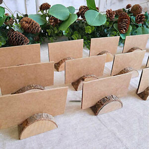 Wooden Table Card Holder Stand Number Place Name Menu Party Wedding Lots