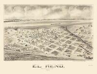 El Reno Oklahoma - Fowler 1891 - 23.00 x 30.12