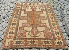 Vintage Muted-Color  Anatolian Turkish  OUSHAK   Rug 51,9'' X 68,8''  Area  Rug