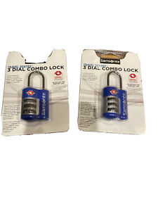 Samsonite Travel Accessor Safe 3 Combi Lock Gep/äckschloss Indigo Blue V