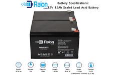 Raion 2 Pack 12V 12Ah REPLACEMENT BATTERY for APC SMART-UPS 1000 SUA1000, BP1001