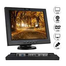 "12"" Inch Monitor BNC/VGA/AV/HDMI/USB W/ Speaker For Game Banking CCTV Security"