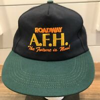 Vtg 90s Roadway AFH baseball hat cap strapback Made in USA