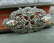 Art Deco Sterling Silver & Marcasite Pin / Brooch