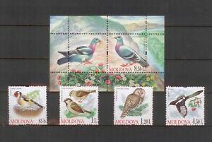 Moldawien 2010 Vögel postfrisch
