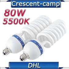 2 x E27 80W 5500K CFL Fotolampe Lampe Tageslichtlampe Energiesparlampe Glühbirne