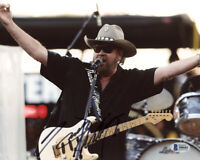 HANK WILLIAMS JR. SIGNED AUTOGRAPHED 8x10 PHOTO COUNTRY MUSIC LEGEND BECKETT BAS
