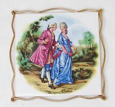 Dessous de plat carreau céramique Couple XVIII Versailles Marie-Antoinette