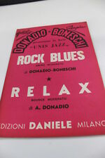 SC16 SPARTITO Rock blues -Relax Attilio Donadio-Giampiero Boneschi
